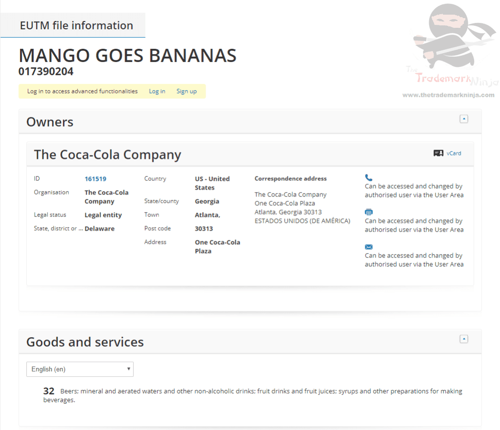 EUTM Coca Cola applies for EU Trademark for Mango Goes Bananas Coke MangoGoesBananas Trademark