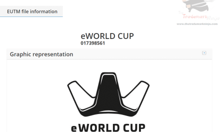 EUTM – European Trademark Application for E World Cup filed #EWorldCup #WorldCup #ESports