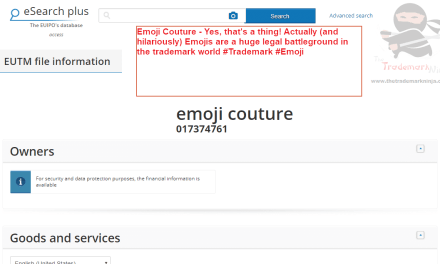 Emoji Couture Yes thats a thing Actually and hilariously Emojis are a huge legal battleground in the trademark world #Trademark #Emoji
