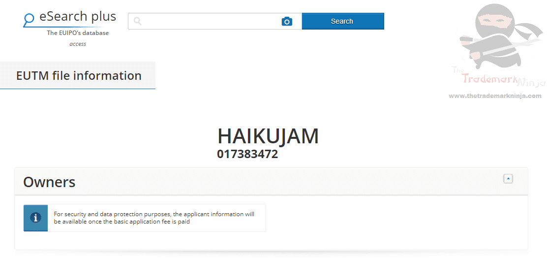 HaikuJam – EU Trademark Application filed based on Indian trademark filings #Haiku #HaikuJam