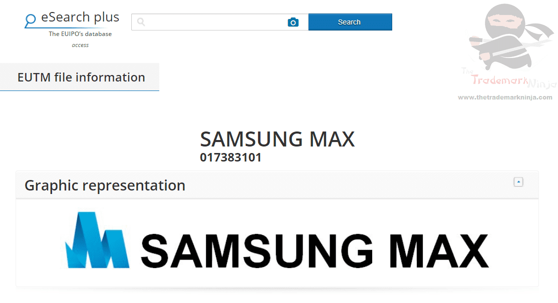 Samsung Max trademark application filed in the EUIPO #Samsung #SamsungMax #Trademark