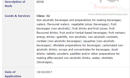 Take the Edge Off Britvic Ireland applies for an Irish trademark for Edge for Drinks and Juices TrademarkIreland