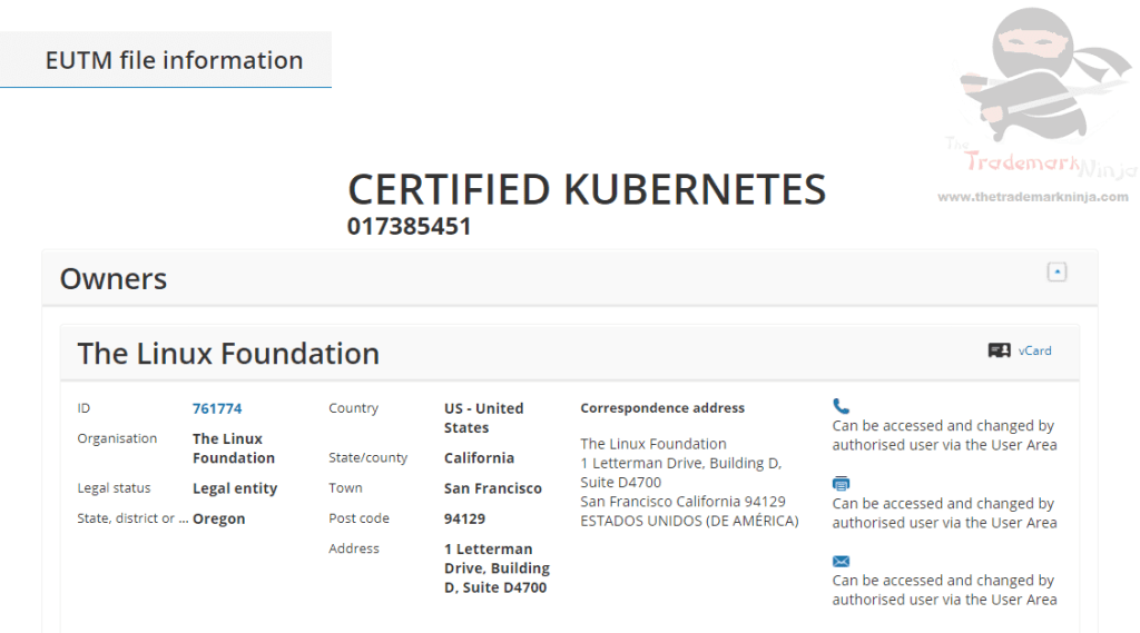 The Linux Foundation applies for EUTM for Certified Kubernetes Linux Kubernetes
