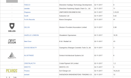 Trademark UK – UK Trademark Applications Latest Filings with UK Patents Office – 02 November 2017 (Part 2)