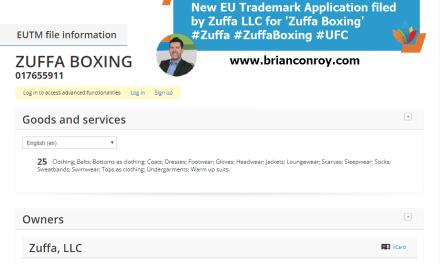 New EU Trademark Application filed by Zuffa LLC for Zuffa Boxing Zuffa ZuffaBoxing UFC