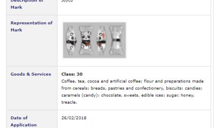Trademark Ireland Armenian company applies for JoyCo trademark with this sweet wrapper