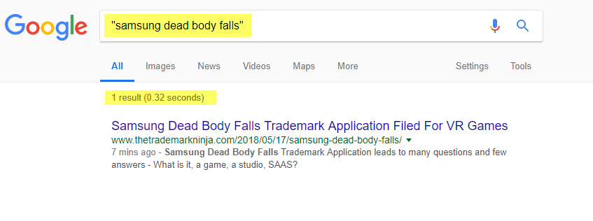 Samsung Dead Body Falls (first)