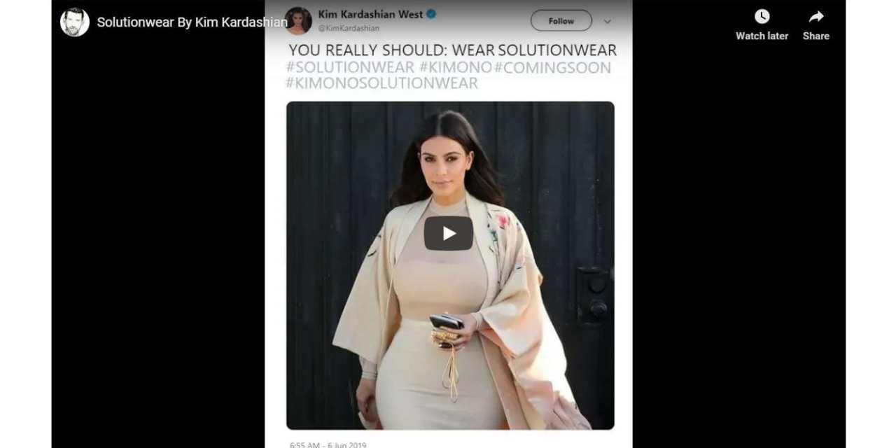 Solutionwear by Kim Kardashian – New Kimono Range Coming Soon