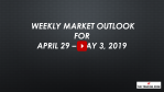 Weekly Market Outlook For April 29 - May 3, 2019