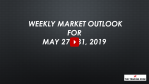 Weekly Market Outlook For May 27 - 31, 2019