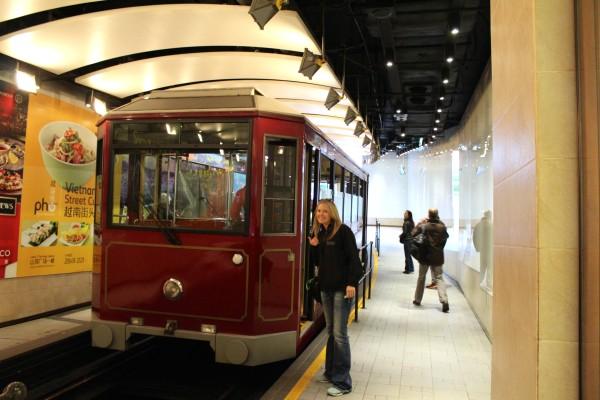 victorias peak tram hong kong