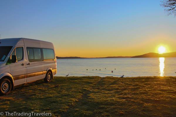 lake rotorua campsite campervan