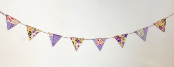purple patchwork fabric