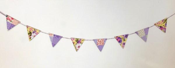 purple patchwork fabric