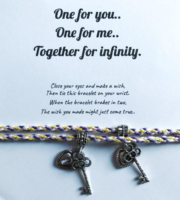 infinity forever friendship bracelet