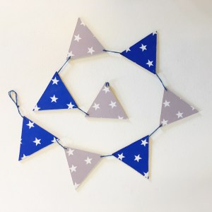 Blue Grey Star Bunting
