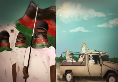 """Kenyan far-right activists march against white gangs """"hooning around in Jeeps, terrorising our animals!"""""""