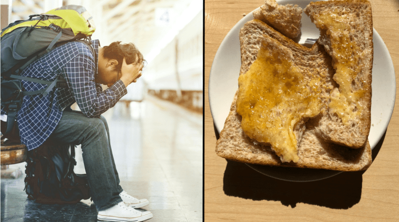"Hostel's ""full breakfast"" disappoints yet again."