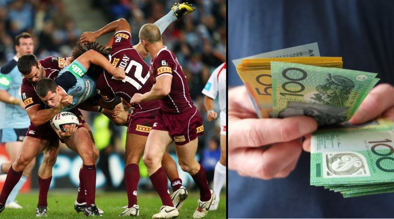 State of Origin rugby match.
