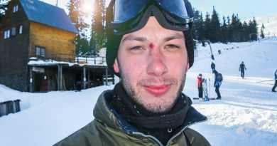 Hungover ski-lift operator keeping you safe