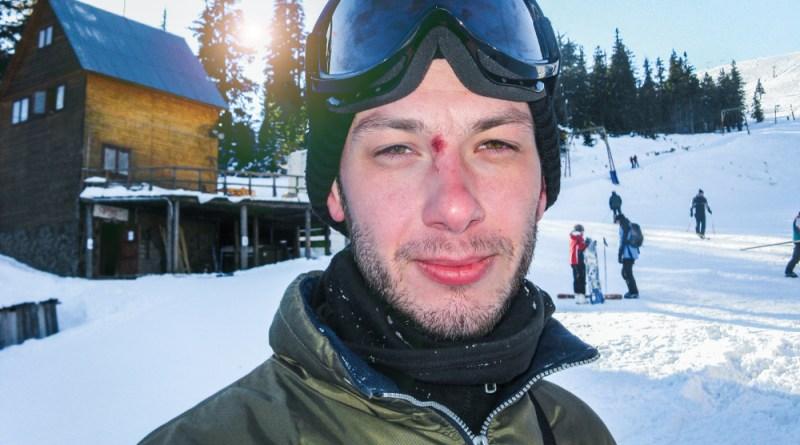 Hungover ski-lift operator keeping you safe