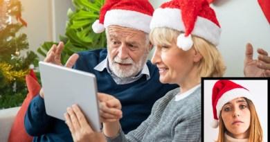 Awkward Skype call at Christmas