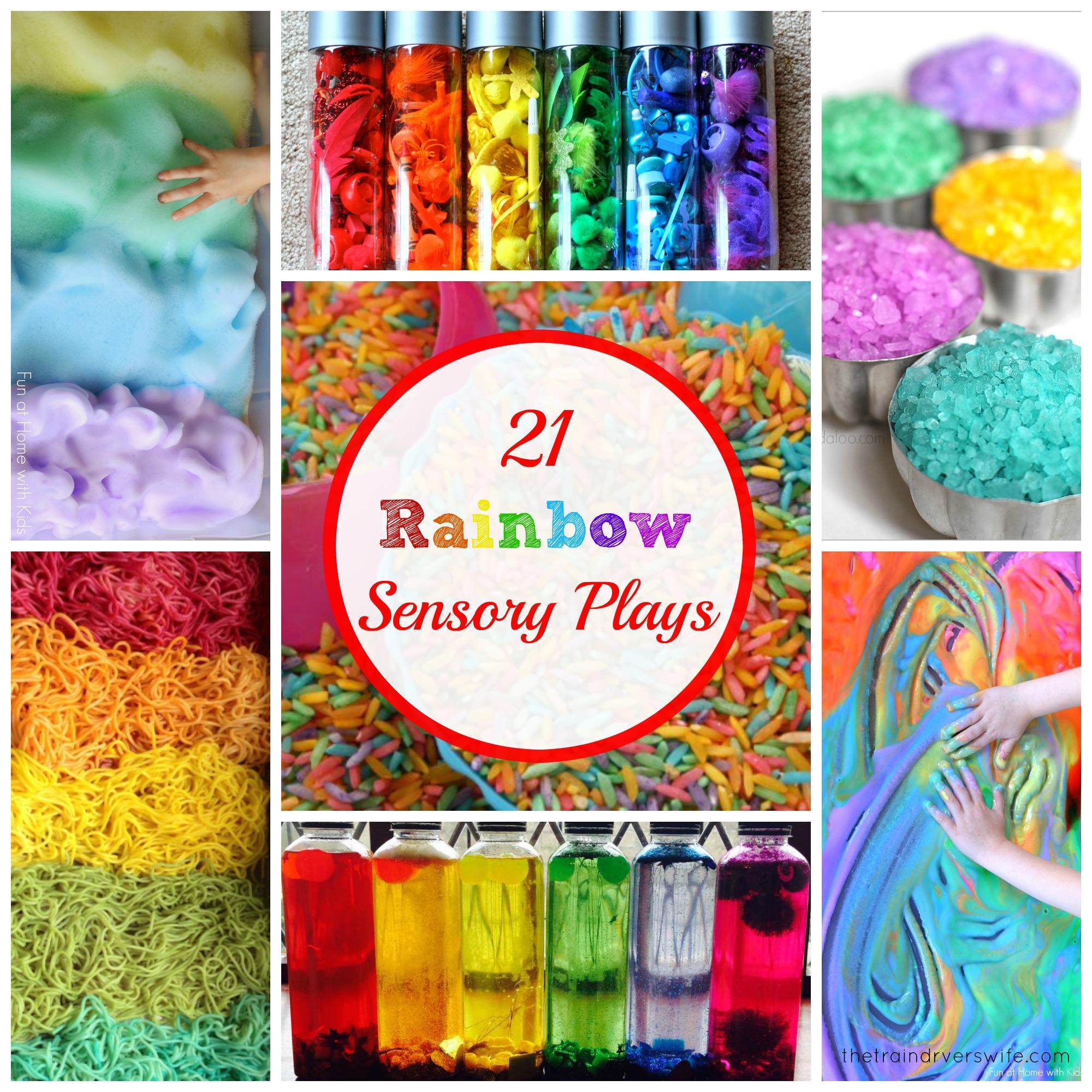 21 Rainbow Sensory Activities
