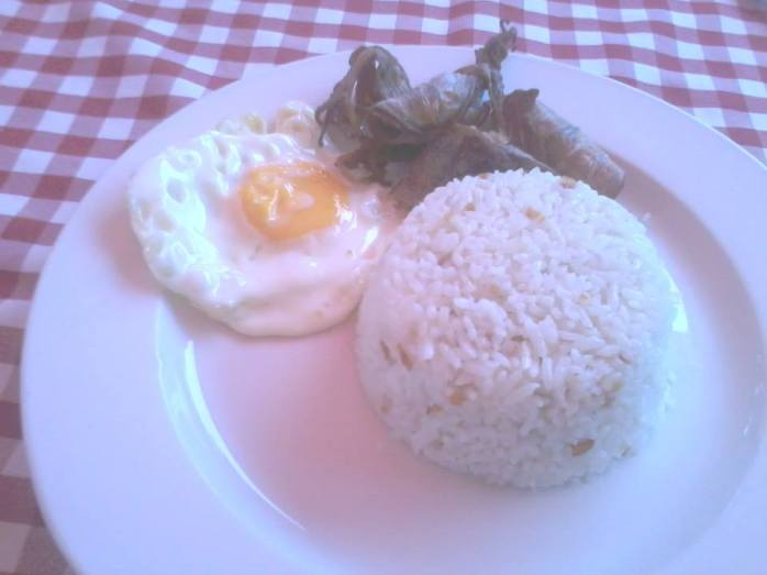 Fried Pusit breakfast just P95 per meal with coffee!