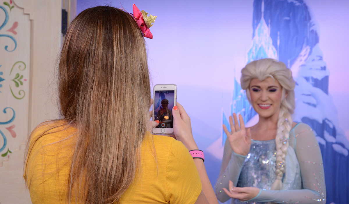 Princess Elsa. EPCOT Center at Disney World Orlando by The Travel Book co.