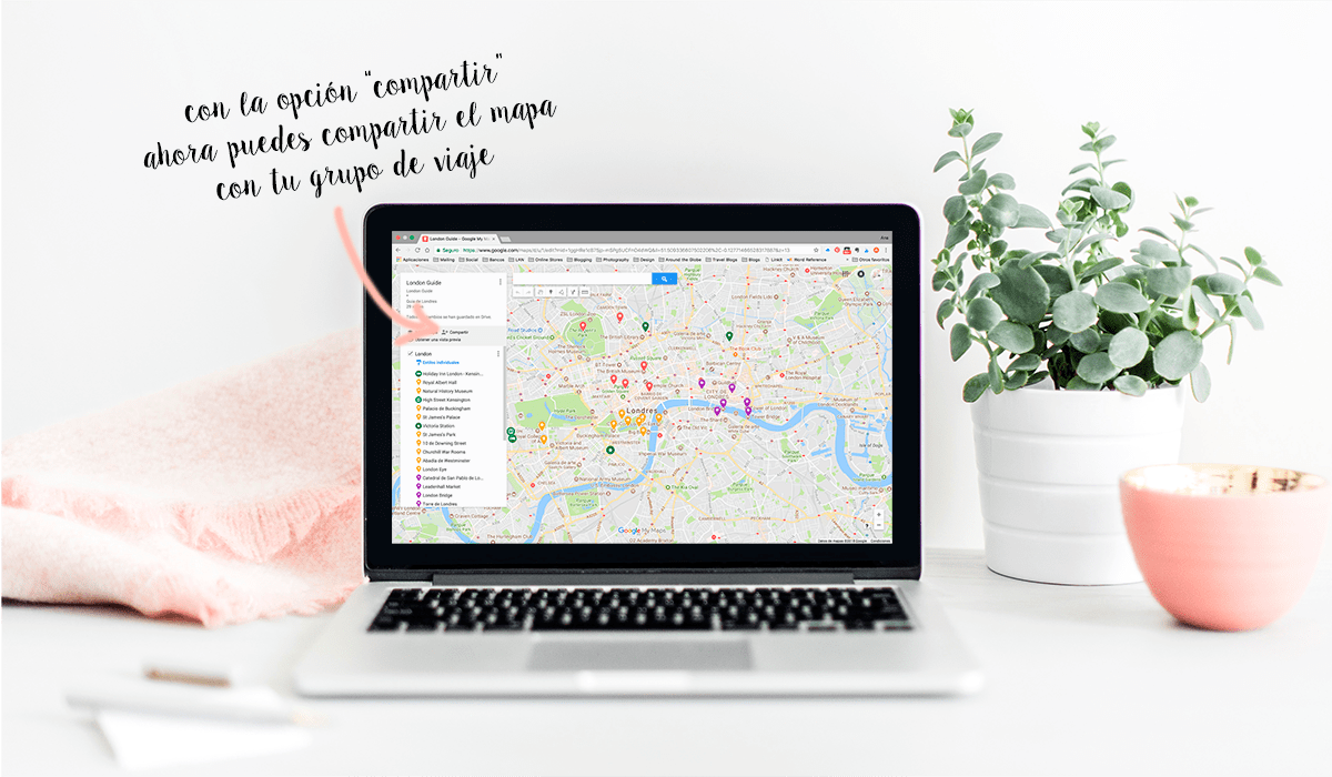 Como utilizar Google maps para viajes por The Travel Book Co