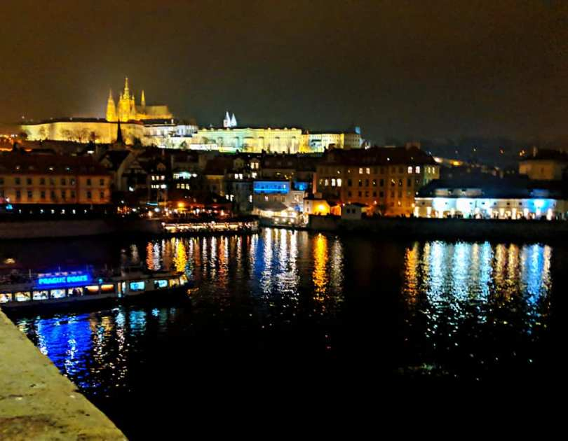 , New Year's Fireworks on Charles Bridge, Prague – 2019