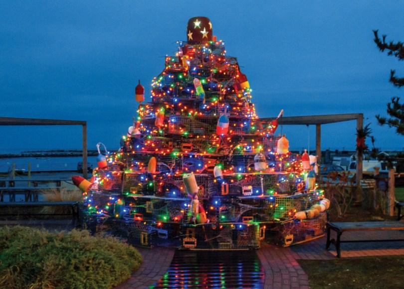 Block Island Tradition, Lobster Pot Christmas Tree: Block Island Tradition