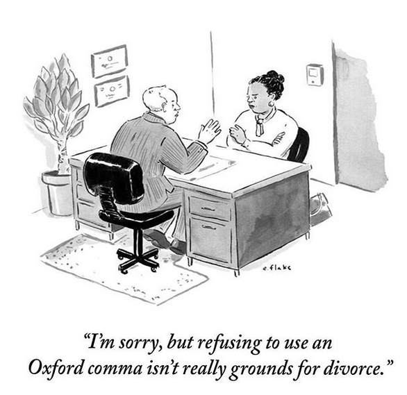 The Oxford Comma, The Oxford Comma is Unsightly, Redundant, and Makes People Lazy, Travel, Reviews, Bugs & More!