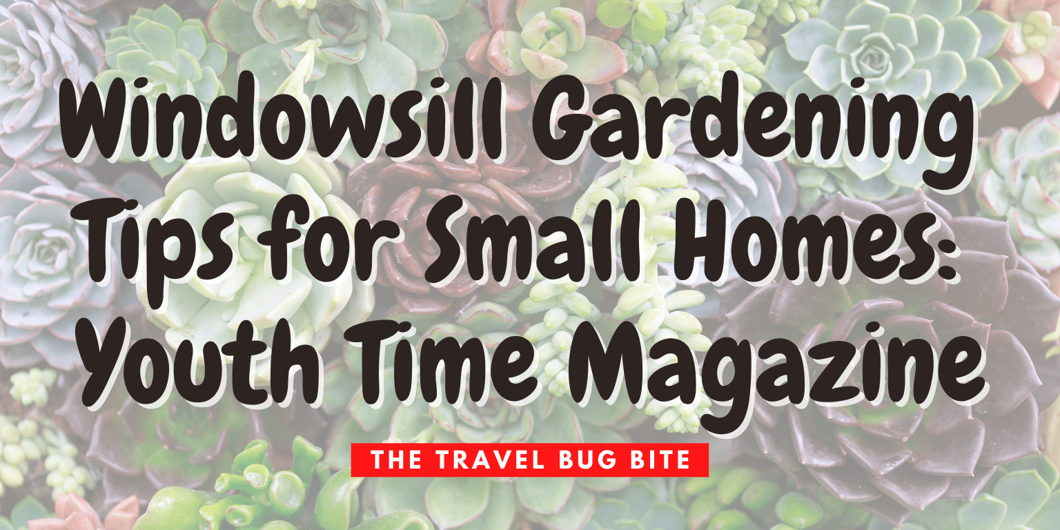, Windowsill Gardening Tips for Small Homes: Youth Time Magazine, The Travel Bug Bite
