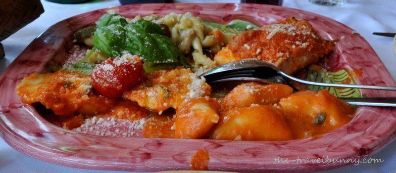 Pasta at La Tagliata Restaurant