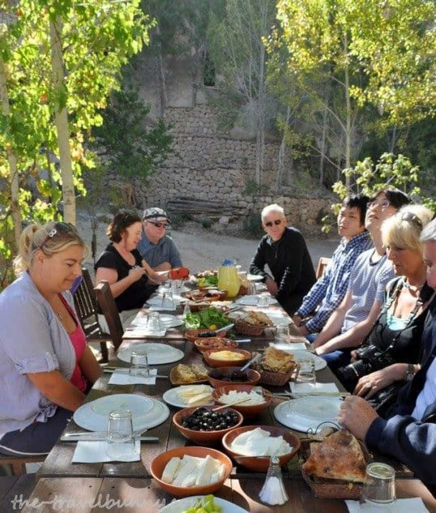 Sitting down to a Turkish Breakfast