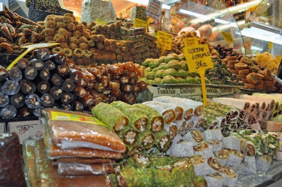 Sweets in Istanbul's Spice Bazaar