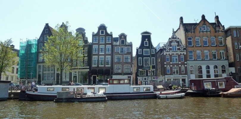 Leaning Houses of Amsterdam