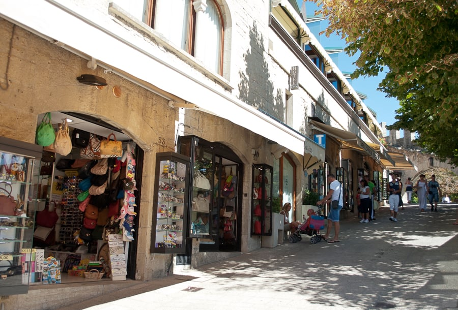 shops in San Marino