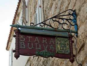 Budva Street Sign