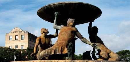 The Triton fountain, Valletta