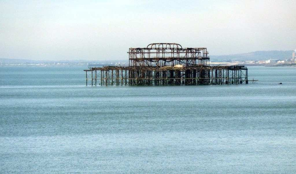 Remains of Brighton's West Pier