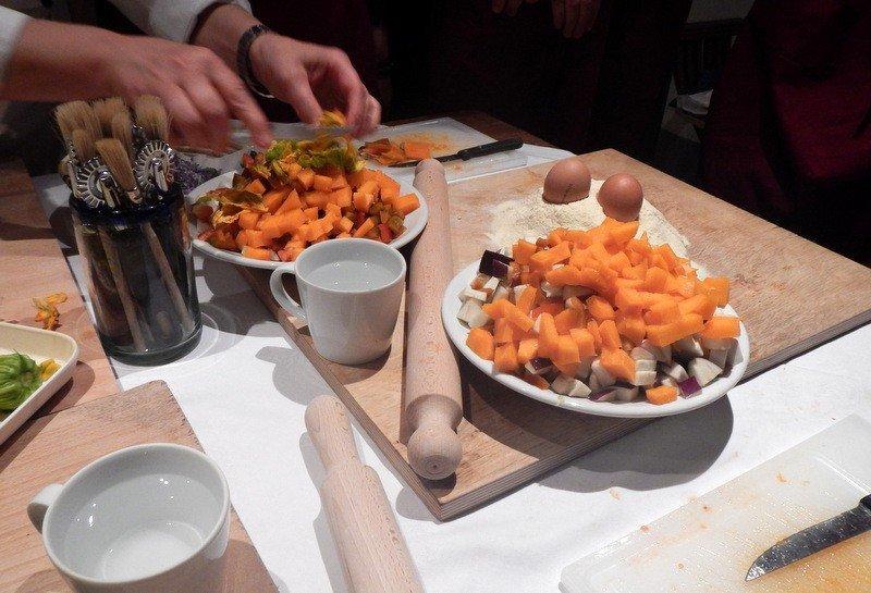 Diced vegetables for Ribollita