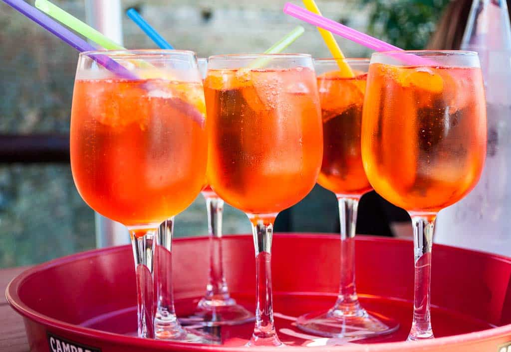 Tray of Aperol Spritz