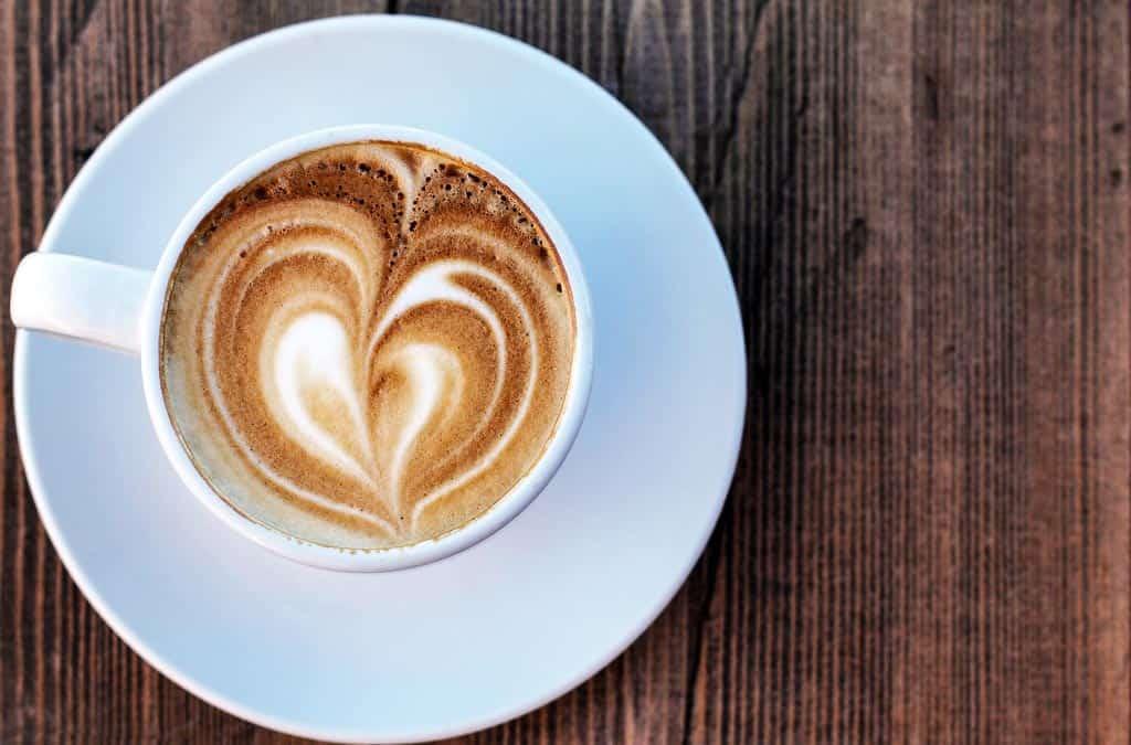 Italian coffee with heart