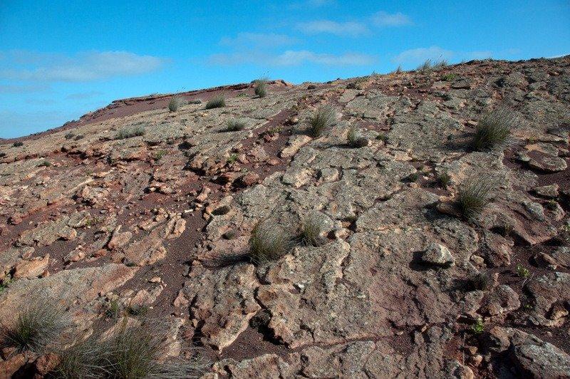 A lava crust at Timanfaya