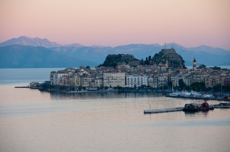 Corfu Town at Dusk