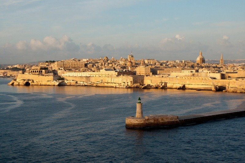 Sailing into The Grand Harbour, Valletta, Malta