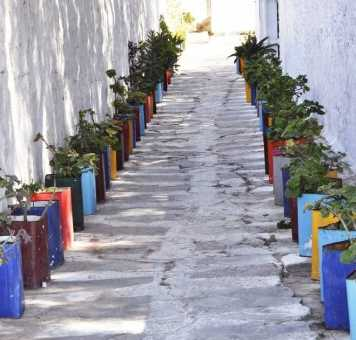 Colourful Mykonos Planters