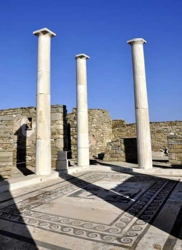 Pillars and Mosaics Delos, Greece